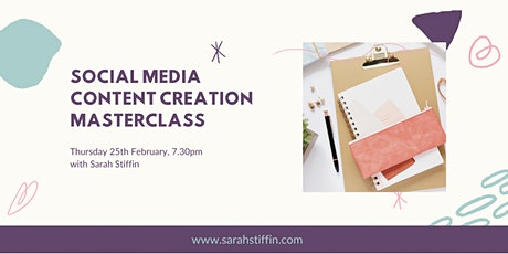 Social Media Content Creation Workshop tickets