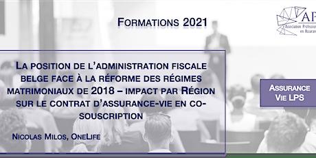 Position administration fiscale belge: réforme régimes matrimoniaux 2018 tickets