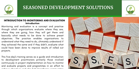 Introduction to Monitoring and Evaluation of Development Projects tickets