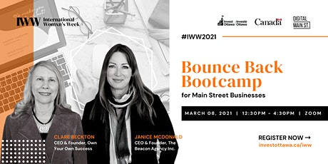 Bounce Back Bootcamp for Main Street Business tickets