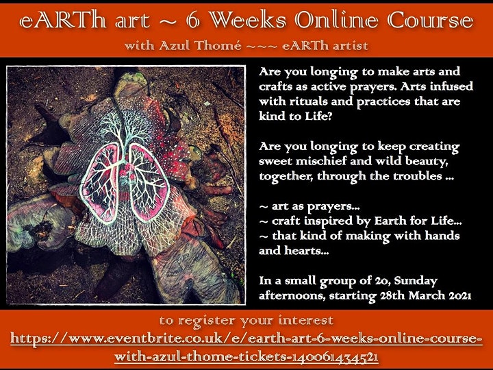eARTh ART -  6 Weeks Online course with Azul Thome REGISTER FREE image