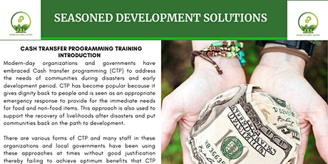 Cash Transfer Programming For Development and Humanitarian Practitioners tickets