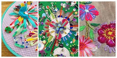 Colourful Floral Hoops - Contemporary Embroidery with Jessica Grady tickets