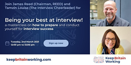 Being your best at interview! with James Reed and The Interview Cheerleader tickets