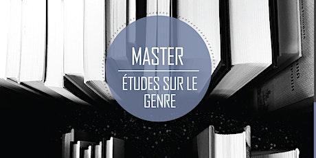 Présentation du master Etudes sur le genre billets