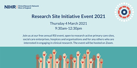 NIHR Clinical Research Network WE - Research Site Initiative Event 2021 tickets