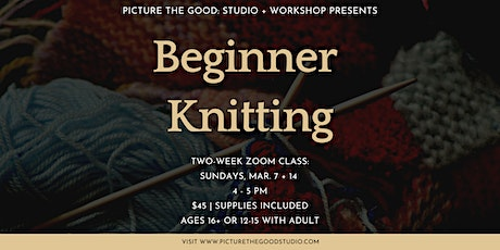 Beginner Knitting tickets
