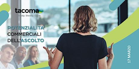 [WORKSHOP] Potenzialità Commerciali Dell'Ascolto. biglietti