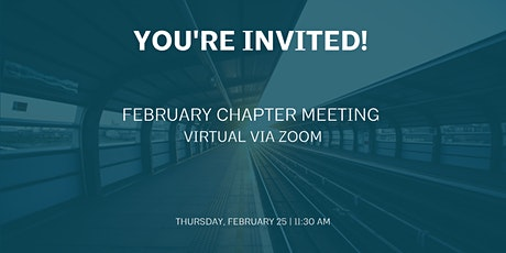 February Chapter Meeting tickets