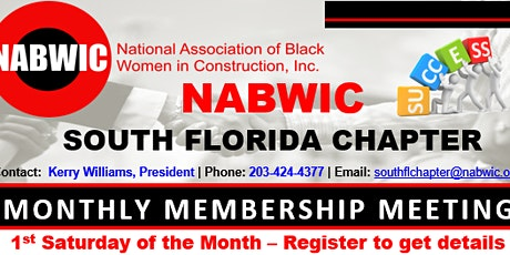 NABWIC SOUTH FLORIDA CHAPTER MONTHLY MEETING tickets