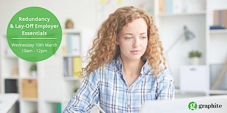Redundancy & Lay-Off Employer Essentials Workshop tickets