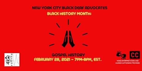 NYCBDA: BLACK HISTORY MONTH: GOSPEL HISTORY tickets