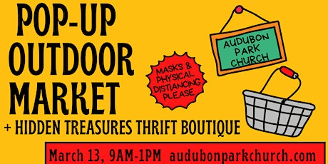 March Pop Up Market Booth Space Rental at Audubon Park Church tickets