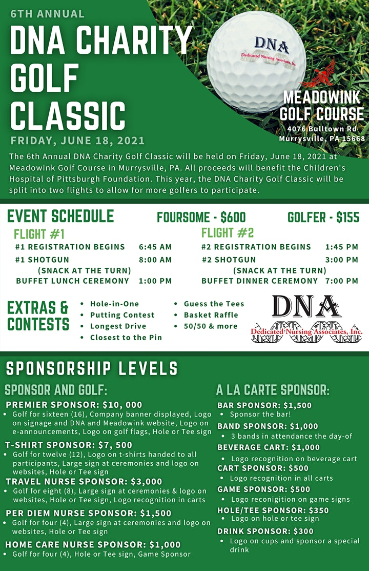 6th Annual DNA Charity Golf Classic image
