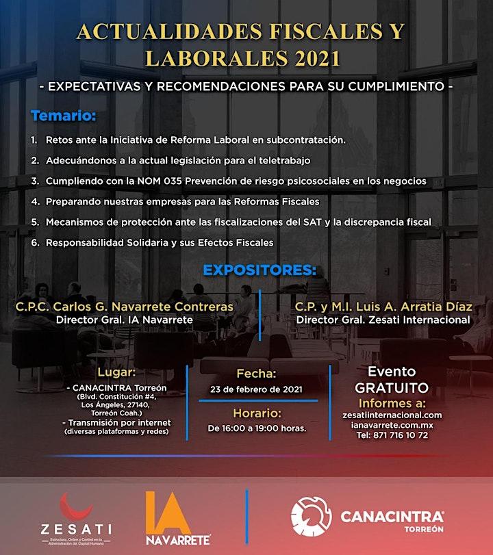 ACTUALIDADES FISCALES Y LABORALES 2021 image
