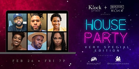 The KlockPhase & Boston While Black Presents:  The Virtual House Party Tickets