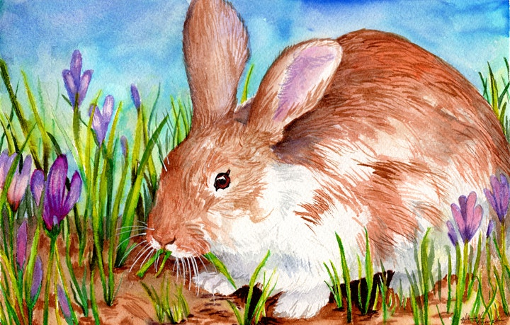 Paint a Rabbit With Watercolor Make-And-Take image