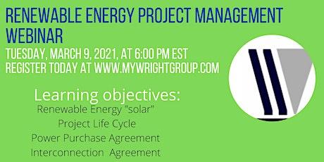 Renewable Energy Project Management 101 tickets