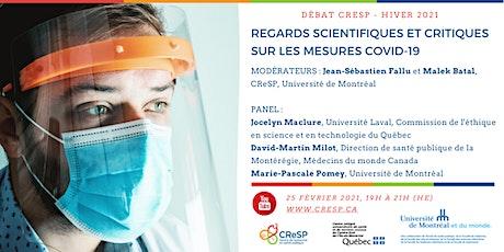 Débat CReSP - Regards scientifiques et critiques sur les mesures COVID-19 billets