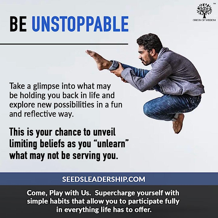 HOW TO BE UNSTOPPABLE- FREE VIRTUAL WORKSHOP image