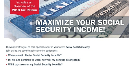 Savvy Social Security Planning tickets
