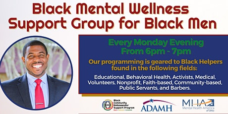 Black Male Virtual Mental Wellness Support Group tickets