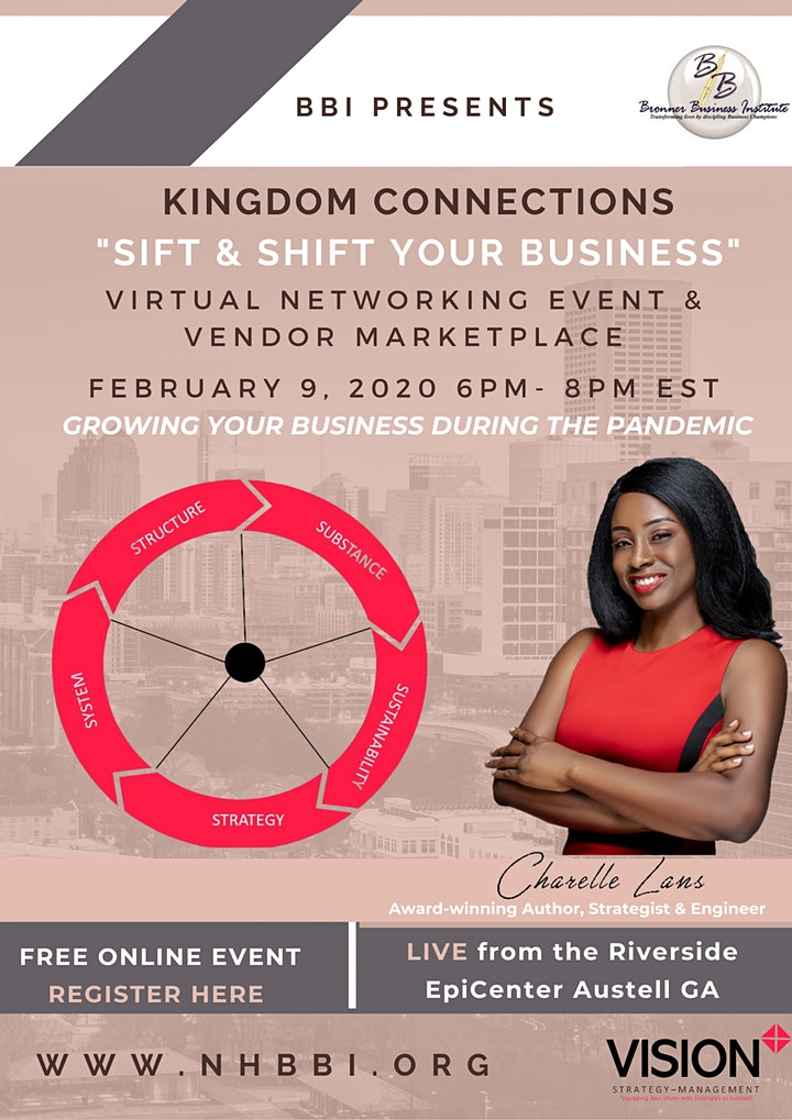 BBI Kingdom Connections Virtual Networking Event: Sift & Shift Your Biz image