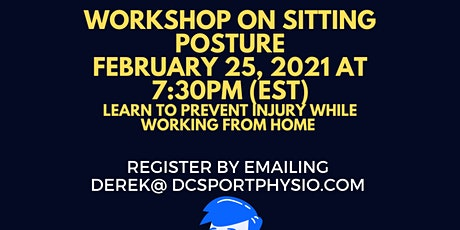How to correct your sitting posture while working from home? tickets