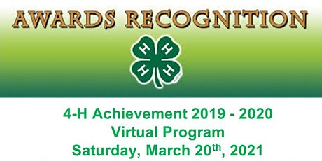 Worcester County 4-H Achievement 2019 - 2020 Virtual Program tickets