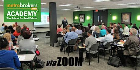 Real Estate Pre-License Course - Virtual Evening Class (Fatima Goodman) Tickets