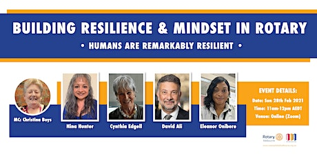 BUILDING RESILIENCE & MINDSET IN ROTARY tickets