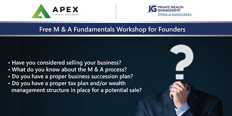 Free M & A Fundamentals Workshop for Founders tickets
