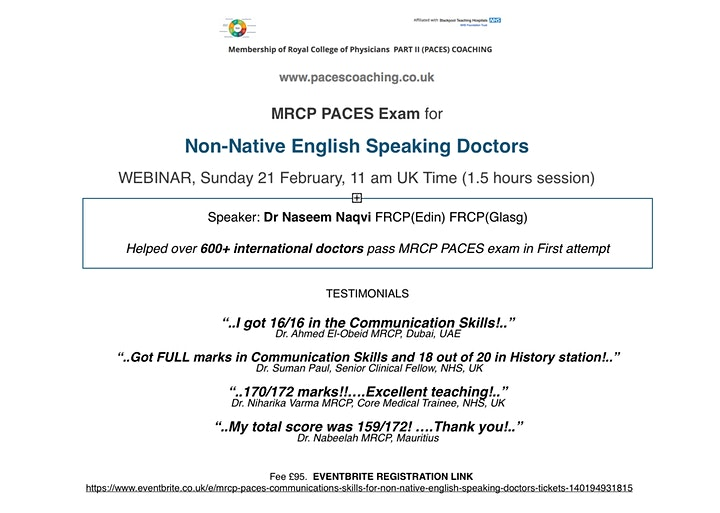 MRCP PACES: Communication Skills for Non-Native English Speaking Doctors image