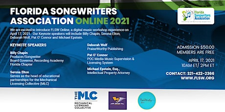 Florida Songwriters Association - FLORIDA: Virtual Workshop 2021 tickets