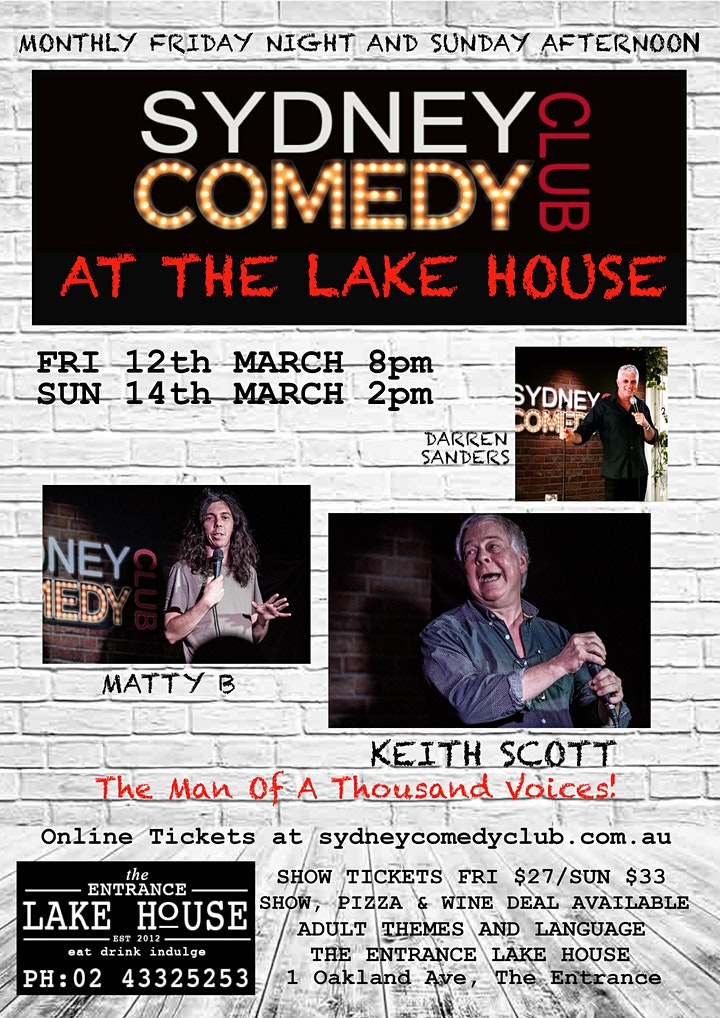 Sunday Comedy at The Entrance with KEITH SCOTT & Matty B image