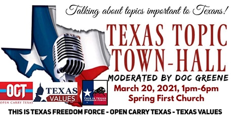 TEXAS TOPIC TOWN-HALL tickets