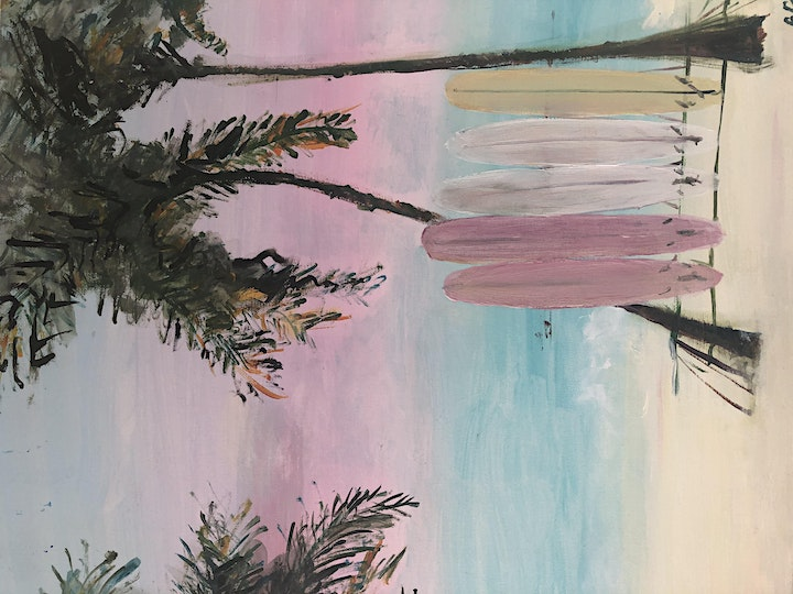 """ Rose and Renoir "" paint and sip classes- Pink Skies image"