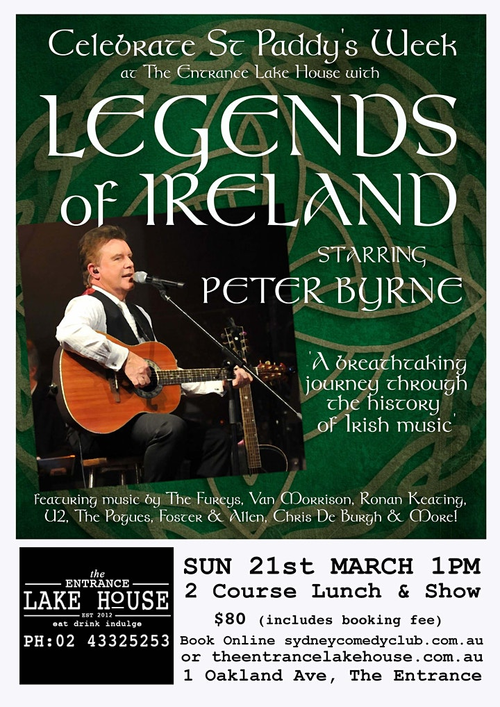 Celebrate St Paddy Week with Irish Music Tribute Songs by Peter Byrne image