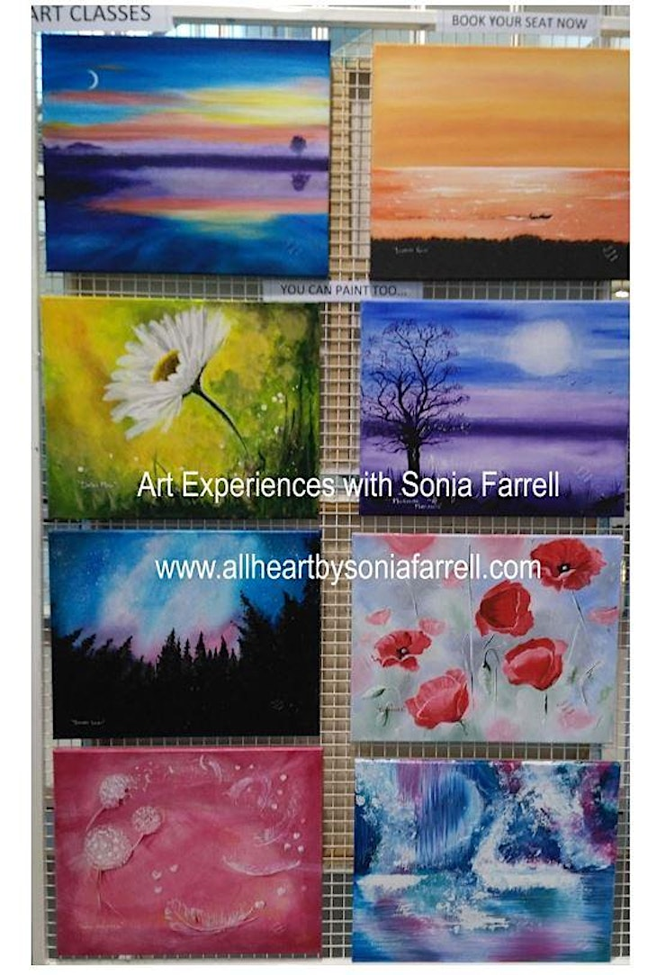 'Starry Skies' Art Experience with  Sonia Farrell: Creative Hearts Art image