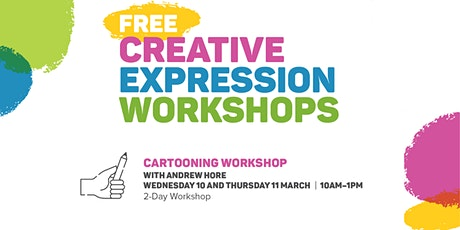 Free Creative Expression Workshop - Cartooning with Andrew Hore tickets