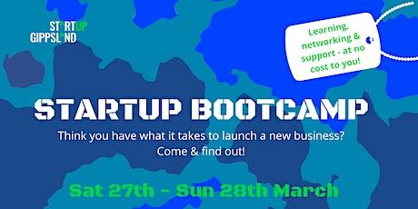 Startup Gippsland Bootcamp tickets