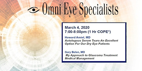 Omni Eye Specialists Winter CE Series March 4, 2021 tickets