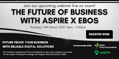 The Future of Business with Aspire X EBOS tickets