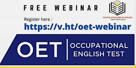Free OET Webinar tickets