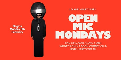Harry's Comedy - Open Mic Comedy tickets