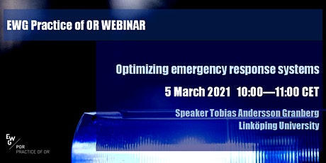 Optimizing emergency response systems tickets