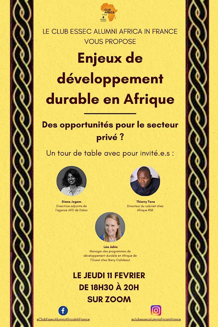 Image pour Enjeux de développement Durable en Afrique