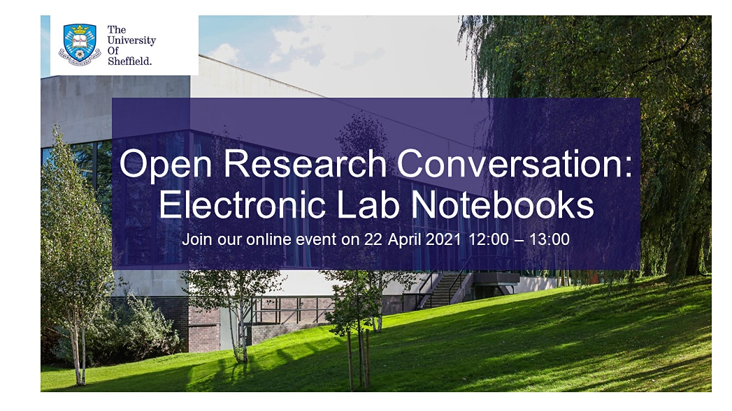 Thumbnail: This event will include talks and discussions about the use of electronic lab notebooks in the research process and beyond.