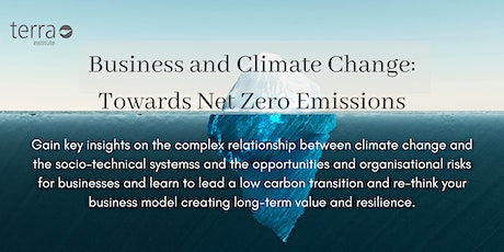Climate change: options and opportunities for companies tickets