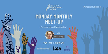 Monday Monthly Meet-Up for International Women's Day with Kea NZ tickets